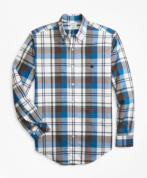 Milano Fit Bold Plaid Zephyr Sport Shirt Olive