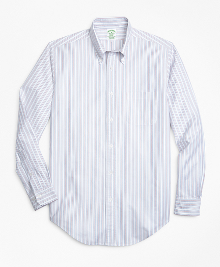 Brooksbrothers Milano Fit Oxford Double-Stripe Sport Shirt