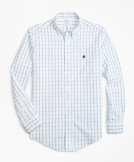 Non-Iron Regent Fit Windowpane Sport Shirt