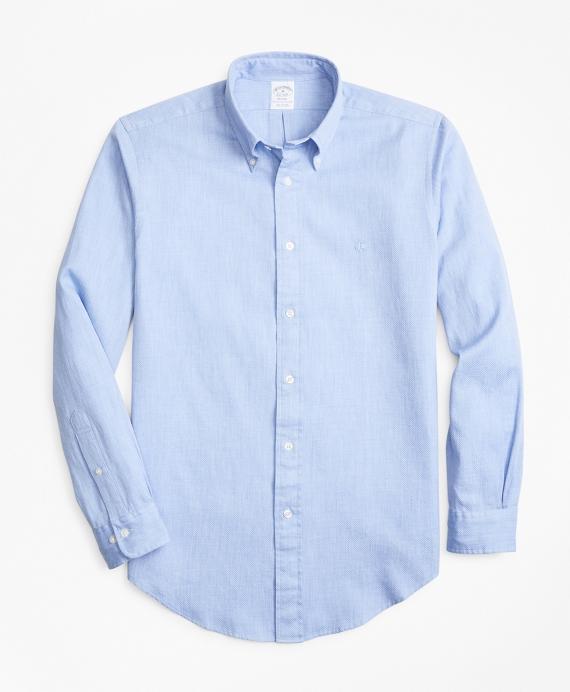 Regent Fit Jacuard Indigo Sport Shirt Blue