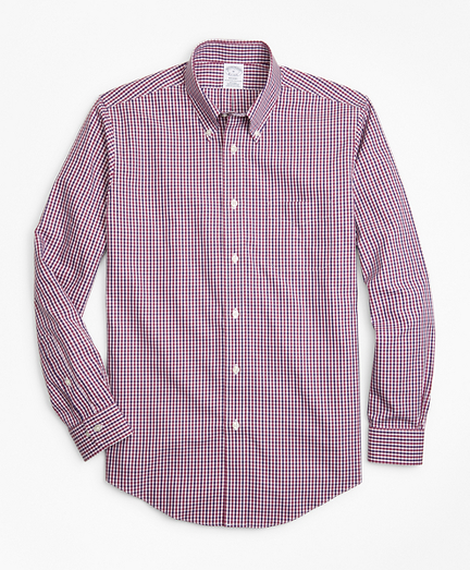 Non-Iron Regent Fit Two-Color Gingham Sport Shirt