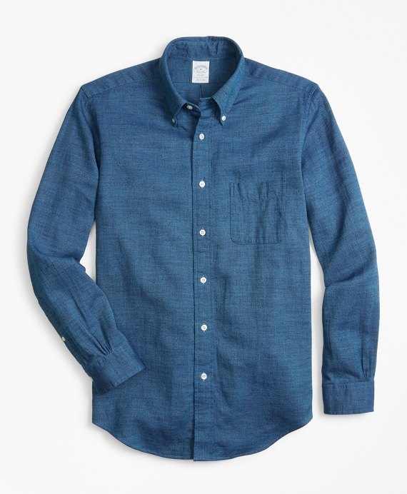 Regent Fit Royal Oxford Indigo Sport Shirt Indigo