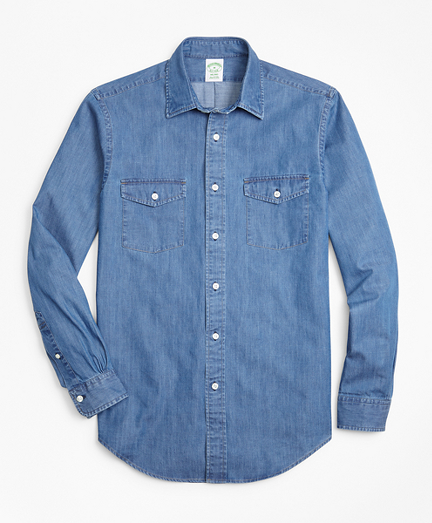 Milano Fit Vintage Chambray Sport Shirt
