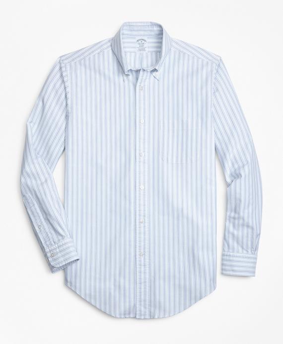 Regent Fit Oxford Double-Stripe Sport Shirt Blue