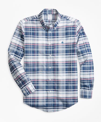 Non-Iron Madison Fit Bold Plaid Sport Shirt