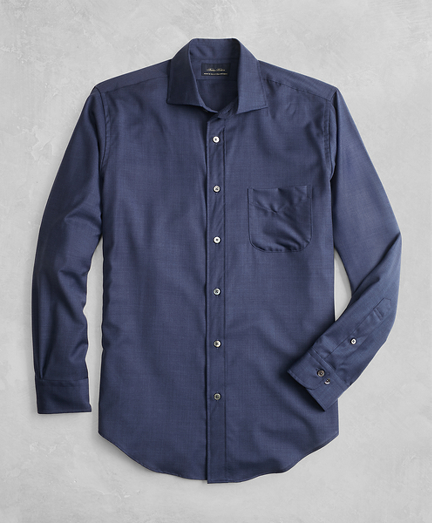 Golden Fleece® BrooksTech™ Regent Fit Navy Sport Shirt