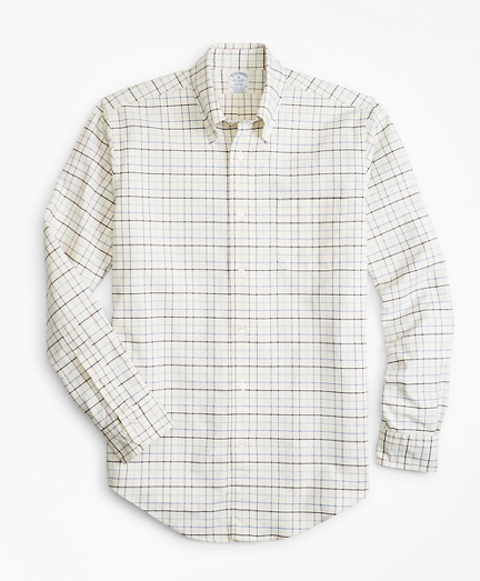 Regent Fit Oxford Windowpane Sport Shirt
