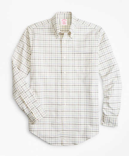 Madison Fit Oxford Windowpane Sport Shirt