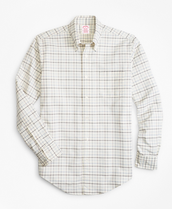 Madison Fit Oxford Windowpane Sport Shirt White