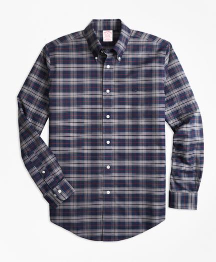 Non-Iron Madison Fit Plaid Sport Shirt