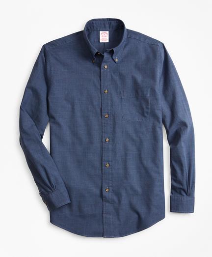 Madison Fit Glen Plaid Flannel Sport Shirt