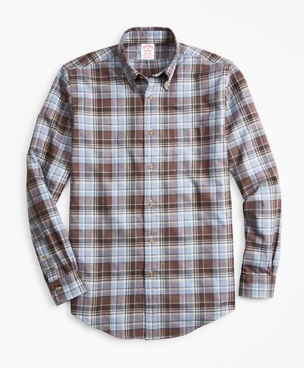 Madison Fit Plaid Flannel Sport Shirt