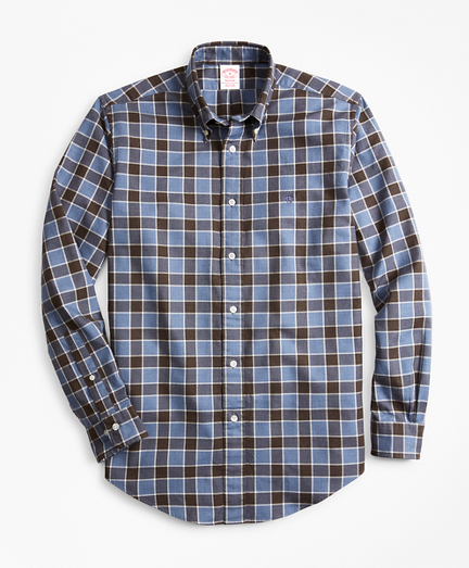 Madison Fit Plaid Brushed Oxford Sport Shirt