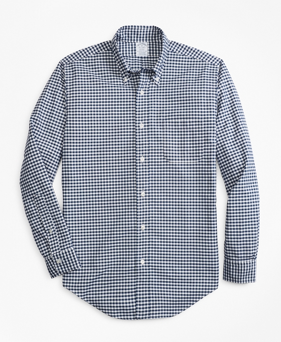 Regent Fit Oxford Gingham Sport Shirt Navy