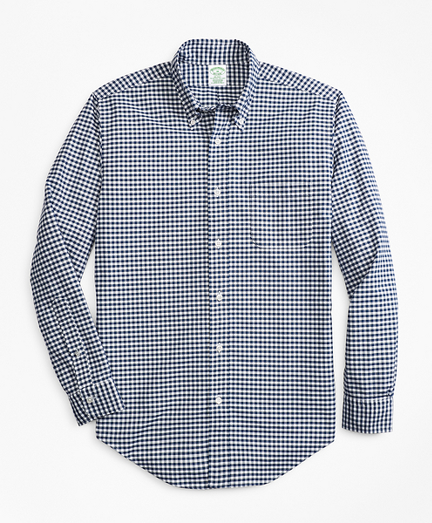 Milano Fit Oxford Gingham Sport Shirt