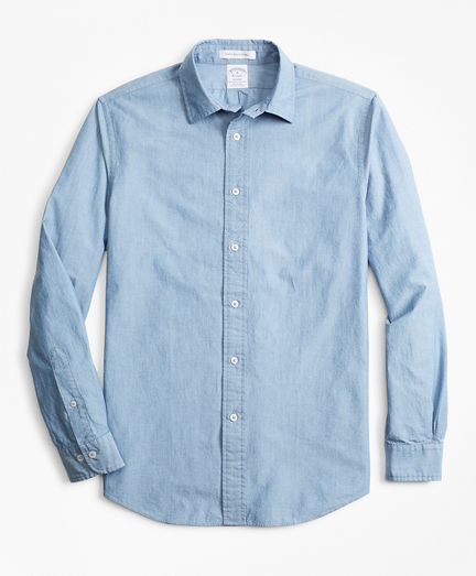 Brooksbrothers Regent Fit Indigo Sport Shirt