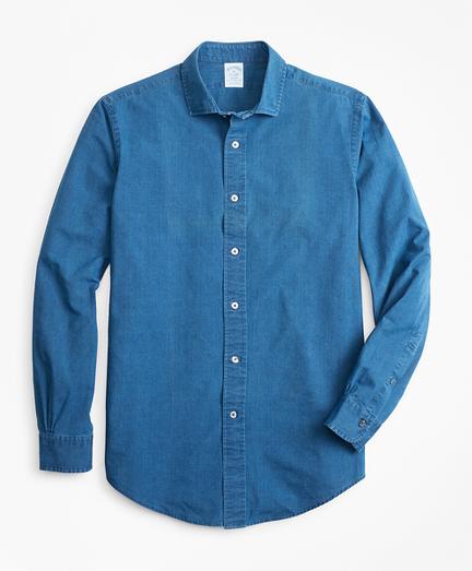 Regent Fit Dobby Indigo Sport Shirt