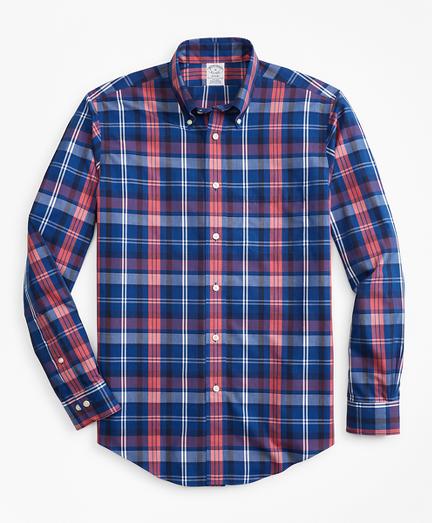Non-Iron Regent Fit Bold Multi-Plaid Sport Shirt