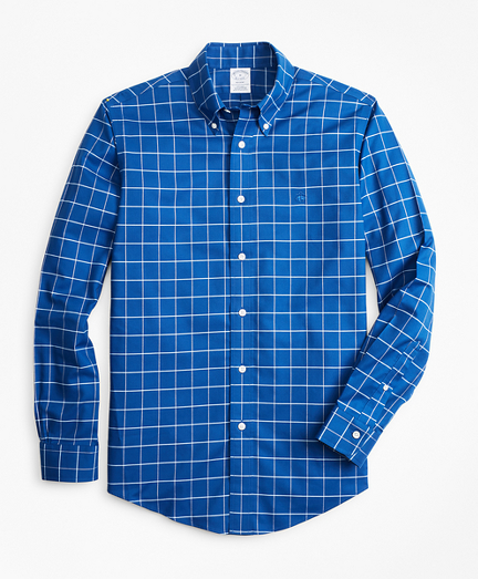 Non-Iron Regent Fit Fine-Windowpane Sport Shirt