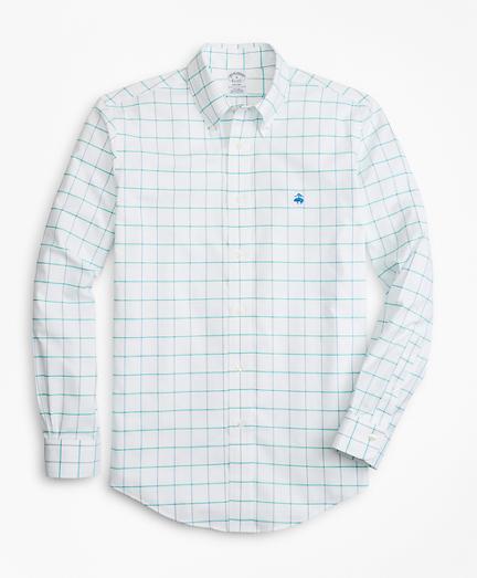 Non-Iron Regent Fit Fine-Windowpane Sport Shirt