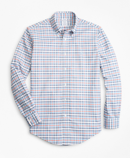 Non-Iron Regent Fit Multi-Check Sport Shirt