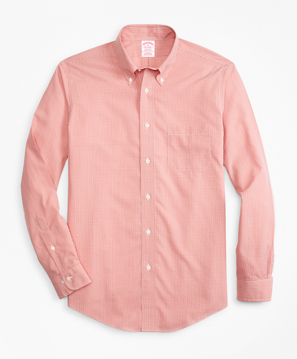 Non-Iron Madison Fit Micro-Gingham Sport Shirt