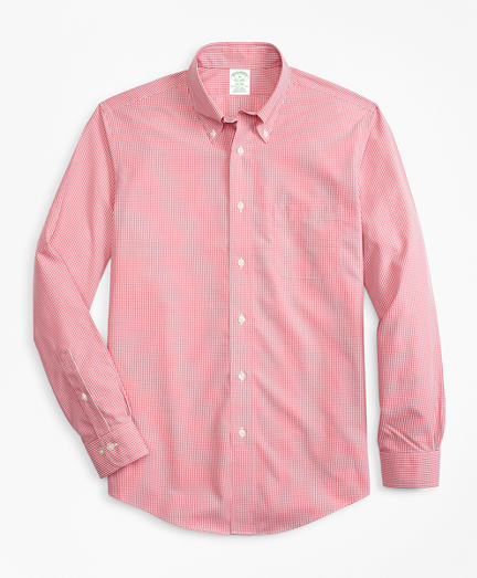 Non-Iron Milano Fit Micro-Gingham Sport Shirt