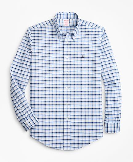 Non-Iron Madison Fit Double-Windowpane Sport Shirt
