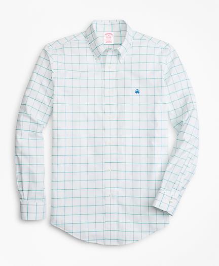 Non-Iron Madison Fit Fine-Windowpane Sport Shirt