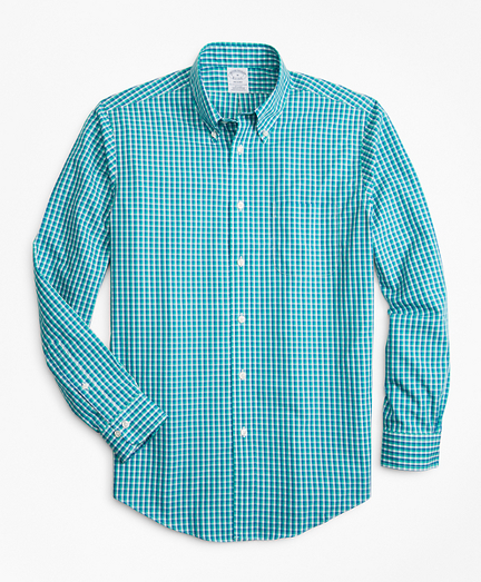 Non-Iron Regent Fit Double-Check Sport Shirt
