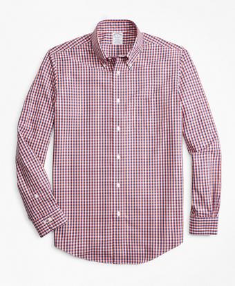Non-Iron Regent Fit Double-Check Sport Shirt