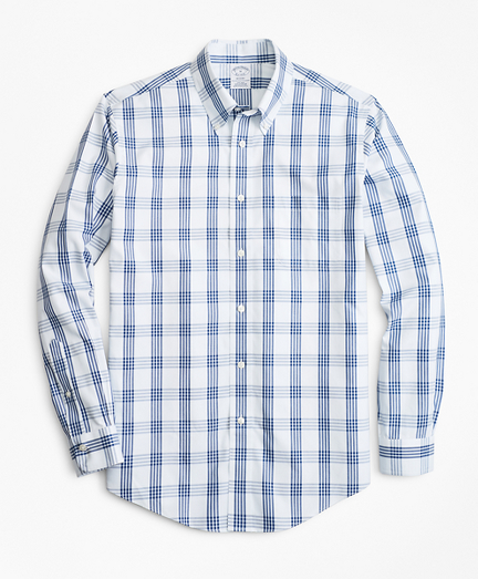 Non-Iron Regent Fit Bold Windowpane Sport Shirt