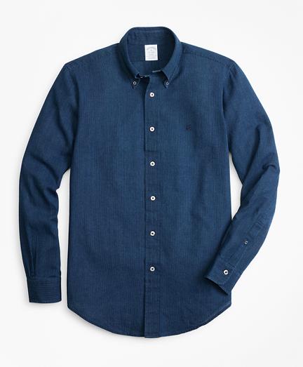 Regent Fit Stripe Indigo Sport Shirt
