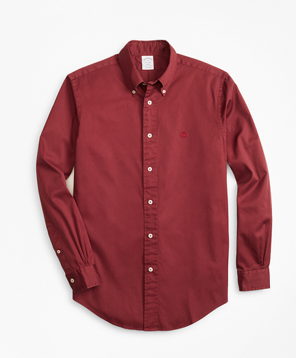 Regent Fit Garment-Dyed Twill Sport Shirt