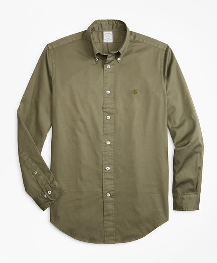 Regent Fit Garment-Dyed Twill Sport Shirt