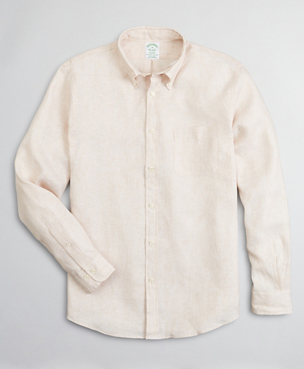 Milano Slim-Fit Sport Shirt, Irish Linen