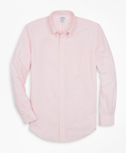 Regent Regular-Fit Sport Shirt, Stripe Seersucker