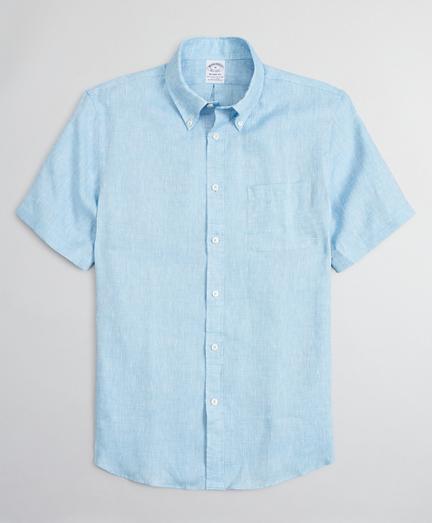 Regent Regular-Fit Sport Shirt, Irish Linen Short-Sleeve