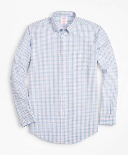 Non-Iron Madison Fit Pink Gingham Sport Shirt