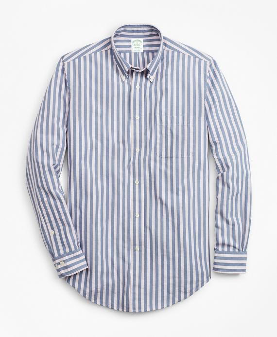 Milano Fit BB#1 Stripe Seersucker Sport Shirt Blue
