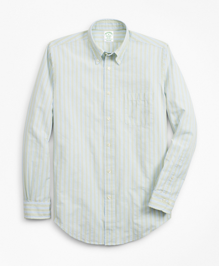 Milano Fit BB#1 Stripe Seersucker Sport Shirt