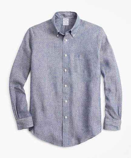 Regent Fit Dobby Irish Linen Sport Shirt