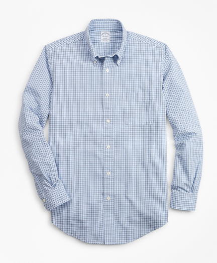 Regent Fit Gingham Seersucker Sport Shirt
