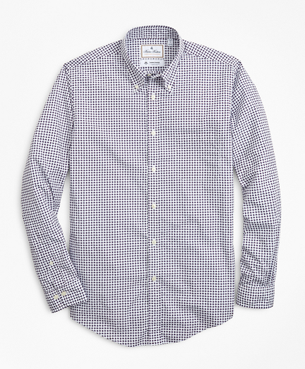 Luxury Collection Regent Fitted Sport Shirt, Button-Down Collar Paisley Print