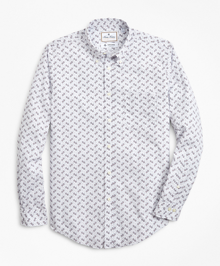 Luxury Collection Regent Fitted Sport Shirt, Button-Down Collar Floating Flower Print