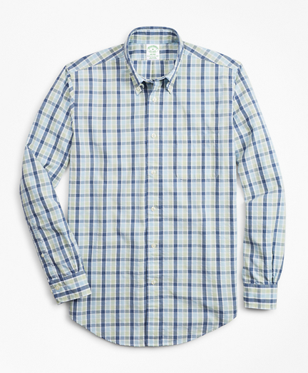 Milano Fit Plaid Seersucker Sport Shirt