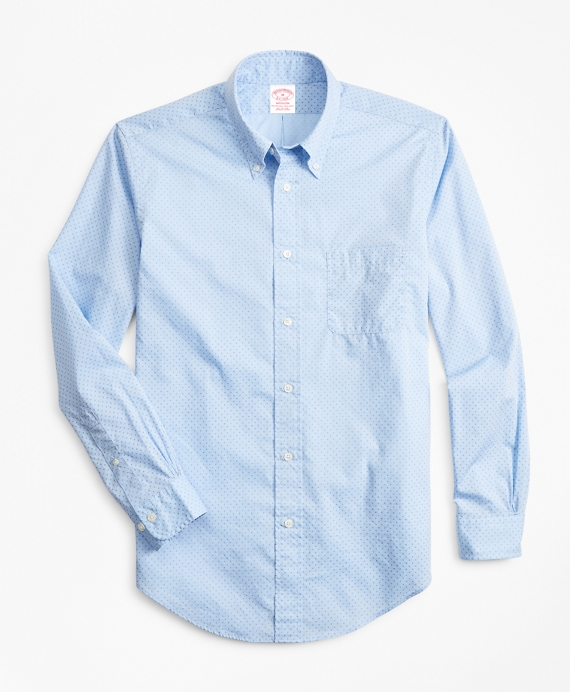 Madison Relaxed-Fit Sport Shirt, Micro-Floral Print Blue