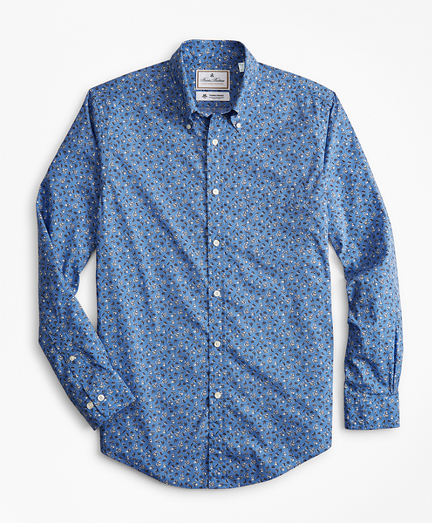 Luxury Collection Milano Slim-Fit Sport Shirt, Button-Down Collar Floral Print