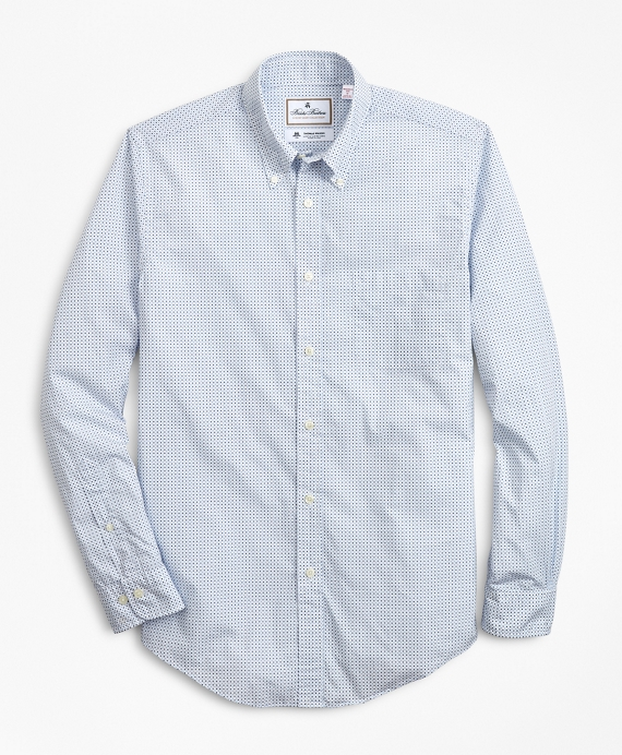 Luxury Collection Madison Classic-Fit Sport Shirt, Button-Down Collar Geo Print White