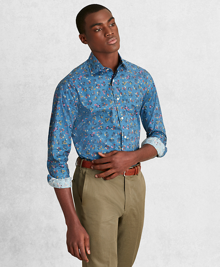 Golden Fleece® Regent Fit Blue Floral Sport Shirt